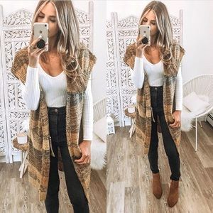 Sweaters - Short sleeve duster/cardigan